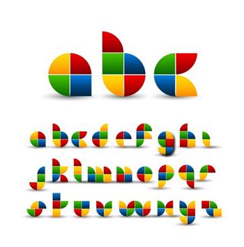 vi设计中的创意字母设计图片